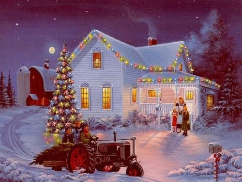 Immagine Paesaggio di Natale: Paesaggio Natalizio