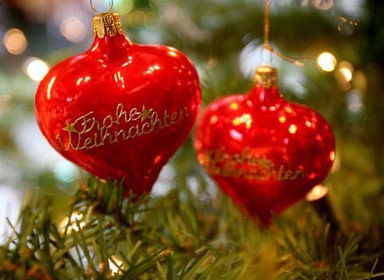 Immagini di Natale Palline di Natale cuore