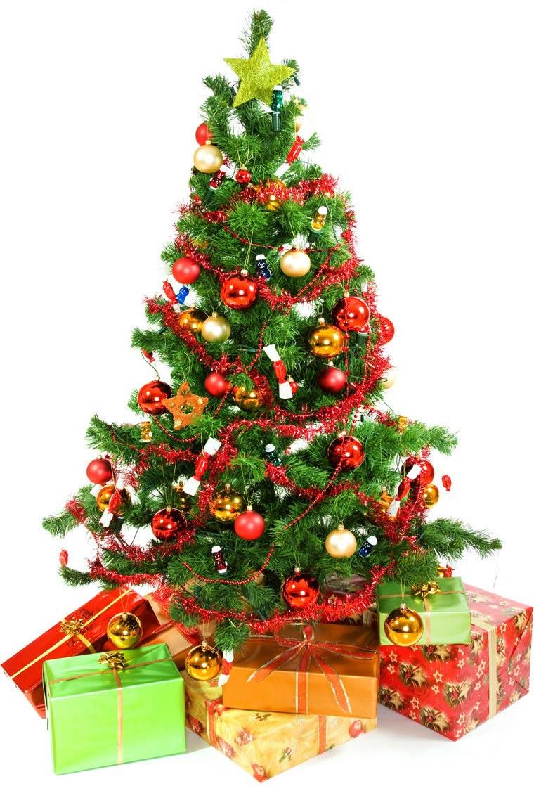 Immagini albero di natale albero di natale addobbato for Obi albero di natale