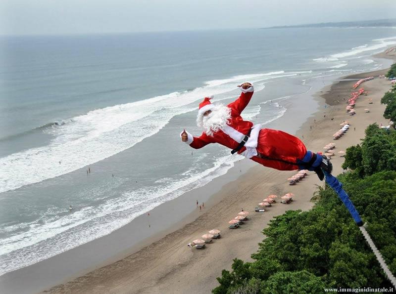 Immagini Babbo Natale: Babbo Natale con elastico