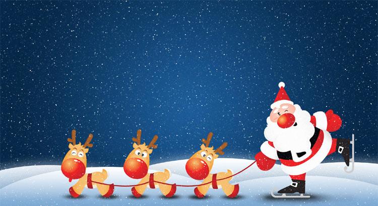 Sfondi Natalizi Renne.Immagini Babbo Natale Babbo Natale Con Renne