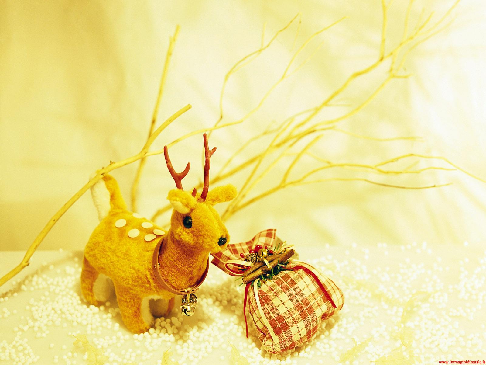 Immagini di Natale - Foto Natalizia decorazione renna