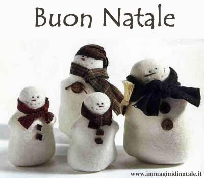 Immagini di Natale - Pupazzi Neve