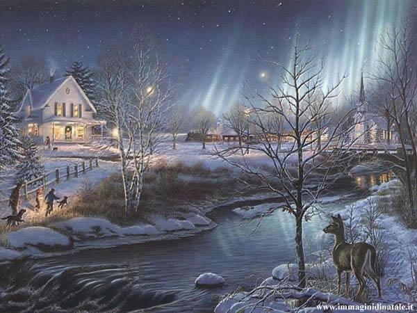 Immagini di Natale: Paesaggio Natale