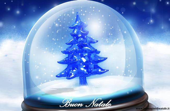 Immagini di Natale - Albero nella sfera di Natale