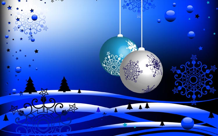Immagini di Natale Palline di Natale appese