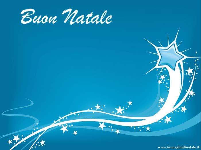 Immagini di Natale Buon Natale con stella azzurra