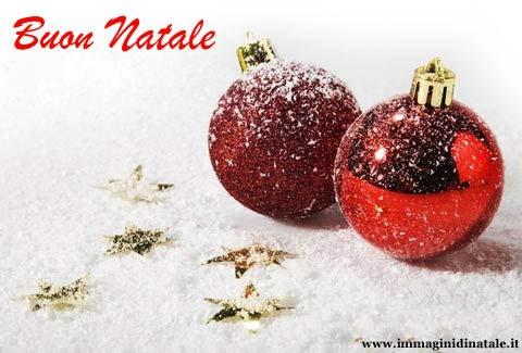 Immagini di Natale Palle di Natale con scritta Buon Natale