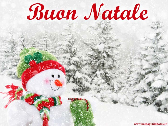 Immagini di Natale Pupazzo di neve sorridente