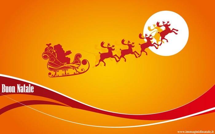 Immagini di Natale Babbo Natale con renne