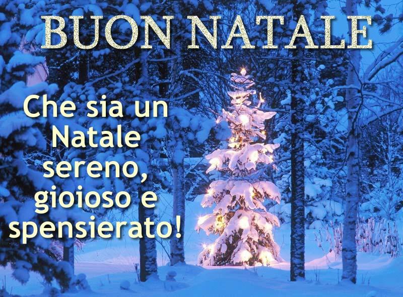 Immagini di Natale Albero di Natale con frase di Auguri