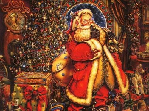Immagini di Natale Babbo Natale con sacco
