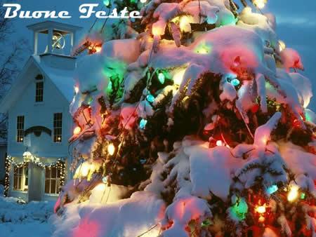 Immagini di Natale Lucine ed Albero di Natale