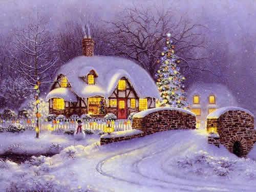 Immagini di Natale Casa natalizia