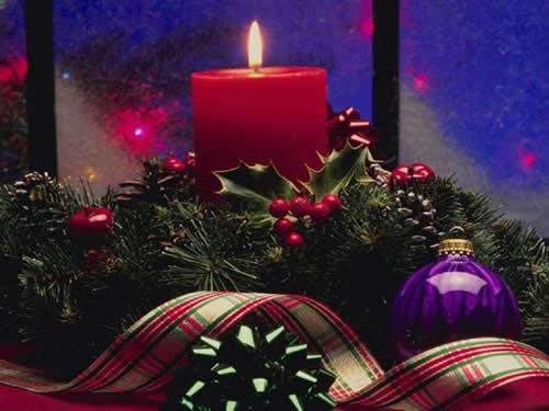 Immagini di Natale Candela di Natale accesa