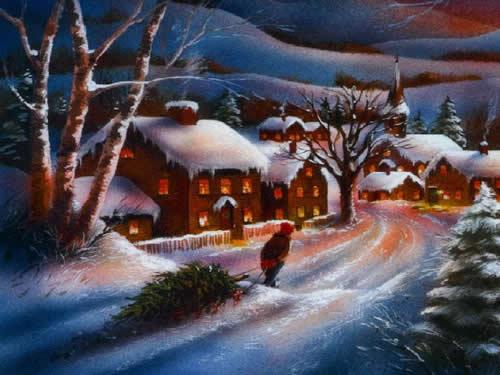 Immagini di Natale Paesaggio Natalizio