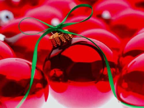 Immagini di Natale Palline di Natale rosse