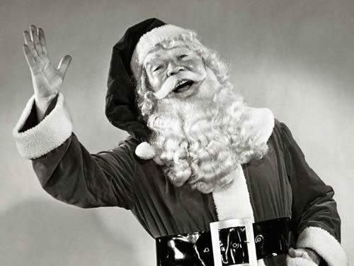 Immagini di Natale Babbo Natale che saluta