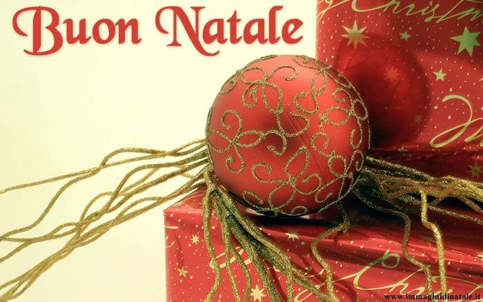 Immagini di Natale Pallina di Natale e scritta Buon Natale
